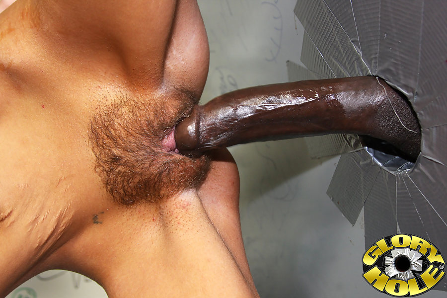 Black cock gloryhole