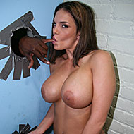 Huge titted Mackenzee Pierce goes black at a public gloryhole from GloryHole