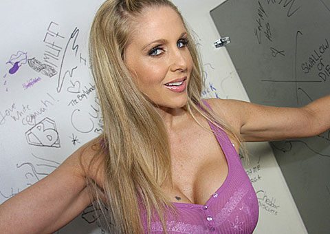 Julia Ann returns to the gloryhole for another big black cock from GloryHole