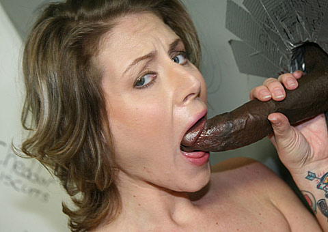 Velicity Von sucking a bigblack cock at a public restroom from GloryHole