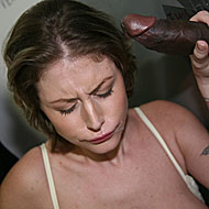 Velicity Von inserting a ghetto cock at a public restroom from GloryHole
