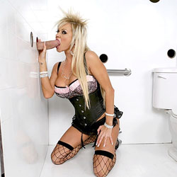 gloryhole 23 Nikita the sexy blonde at a gloryhole
