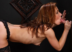 04 Filthy Sheena Shaw gladly nibbles on a faceless cock in the confessional